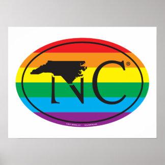 LGBT State Pride Euro: NC North Carolina Poster