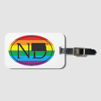 LGBT State Pride Euro: ND North Dakota Luggage Tag