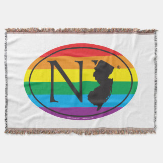 LGBT State Pride Euro: NJ New Jersey Throw Blanket
