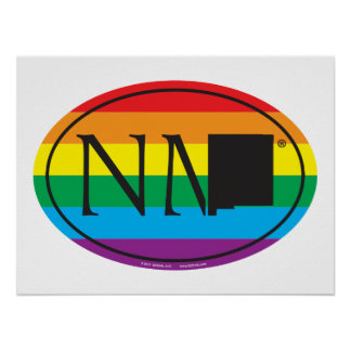 LGBT State Pride Euro: NM New Mexico Poster