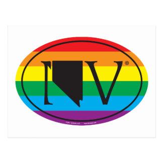 LGBT State Pride Euro: NV Nevada Postcard