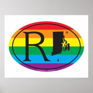 LGBT State Pride Euro: RI Rhode Island Poster