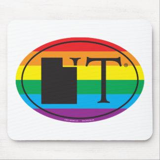 LGBT State Pride Euro: UT Utah Mouse Pad
