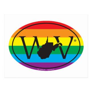 LGBT State Pride Euro: WV West Virginia Postcard