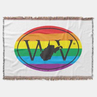 LGBT State Pride Euro: WV West Virginia Throw Blanket