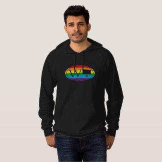 LGBT State Pride Euro: WY Wyoming Hoodie