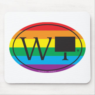 LGBT State Pride Euro: WY Wyoming Mouse Pad