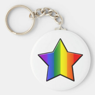 LGBT Super Star Basic Round Button Key Ring