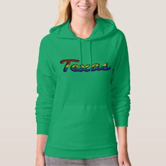 LGBT Texas Rainbow text Sweatshirt