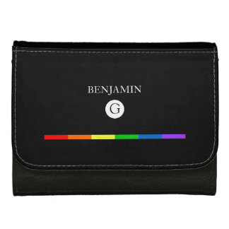 LGBT Themed Custom Monogram Wallet