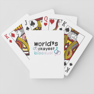 LGBT worlds okayest bisexual rainbow gay pride Playing Cards