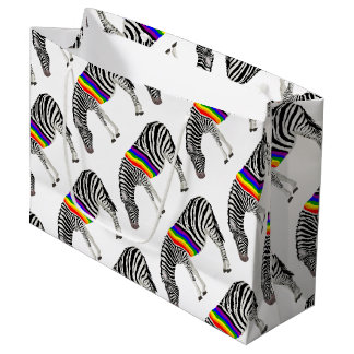 LGBT Zebra Large Gift Bag