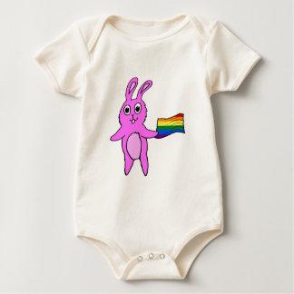 LGBTQ Bunny Rabbit Cute Hand-drawn Baby Bodysuit