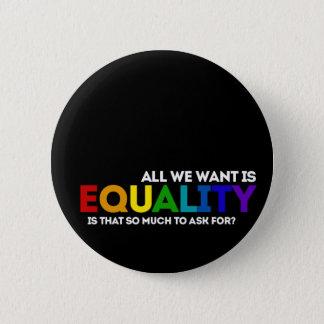 LGBTQ Equality 6 Cm Round Badge