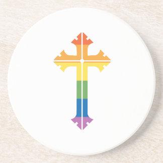 LGBTQ Rainbow Cross Coaster