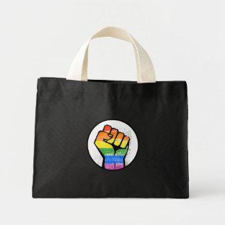 LGBTQ RESIST FIST MINI TOTE BAG