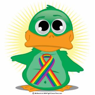 LGBTQ Ribbon Duck Standing Photo Sculpture