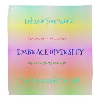 #LGBTQA Pride Pastel Rainbow  Embracing Diversity Bandana