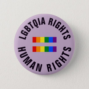 LGBTQIA Rights Equal Human Rights 6 Cm Round Badge