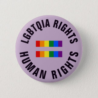 LGBTQIA Rights Equal Human Rights 6 Cm Round Badge