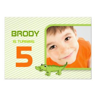 """LGC  Green Gator Invite 5"""" X 7"""" Invitation Card"""