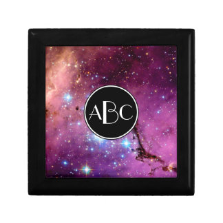LHA 120-N11 Star Formation with Custom Monogram Small Square Gift Box