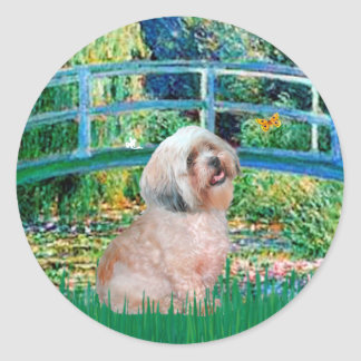 Lhasa Apso 10 - Bridge Classic Round Sticker