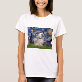 Lhasa Apso 10 - Starry Night T-Shirt