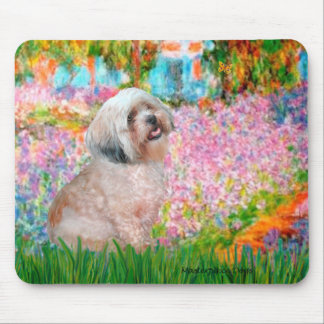 Lhasa Apso 20 - Garden Mouse Pad