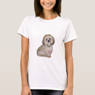 Lhasa Apso (A) - golden / cream T-Shirt
