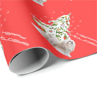 Lhasa Apso Christmas Wrap Wrapping Paper