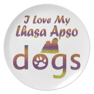 Lhasa Apso designs Plate