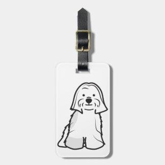 Lhasa Apso Dog Cartoon Luggage Tag