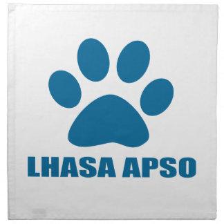 LHASA APSO DOG DESIGNS NAPKIN