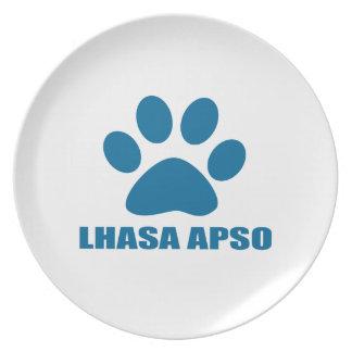 LHASA APSO DOG DESIGNS PLATE