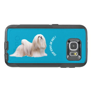 Lhasa Apso on teal OtterBox Samsung Galaxy S6 Case