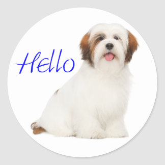 Lhasa Apso Puppy Dog Sticker / Label