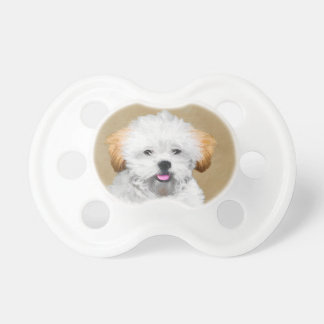 Lhasa Apso Puppy Painting - Cute Original Dog Art Dummy