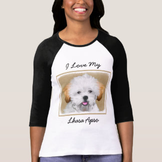 Lhasa Apso Puppy Painting - Cute Original Dog Art T-Shirt