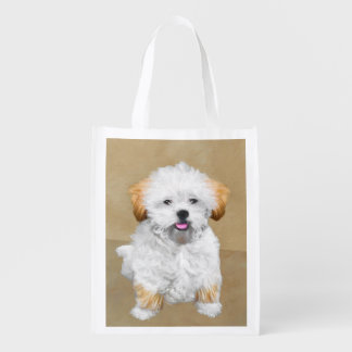 Lhasa Apso Reusable Grocery Bag