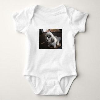 Lhasa Apso sitting Baby Bodysuit