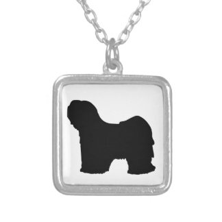 Lhasa Dog Silver Plated Necklace