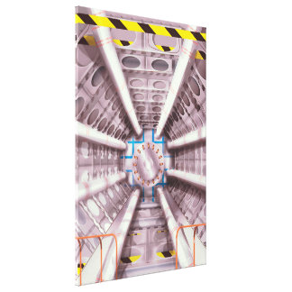 LHC particle collider Canvas Print