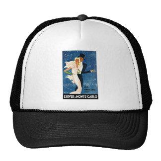 L'Hiver a Monte-Carlo Vintage Travel Advertisement Hat