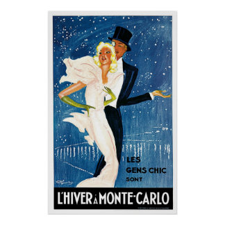 L'Hiver Monte Carlo Monaco Vintage Posters