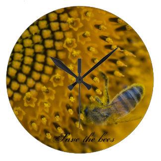 l'horloge - sauver et protéger les abeilles large clock