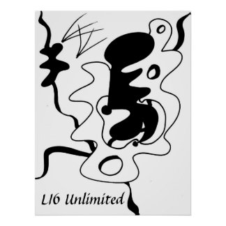 "LI6 Unlimited ""Beauti-form"" Abstract Poster"