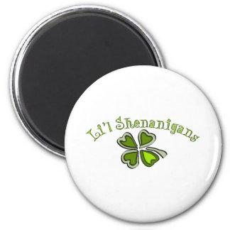 Li'l Shenanigans A Weird Party Shamrock Cartoonifi 6 Cm Round Magnet