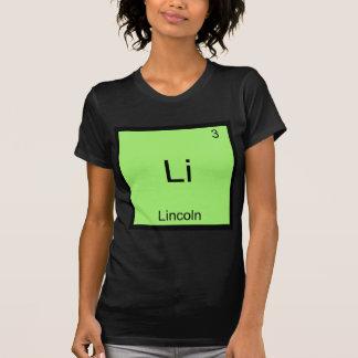 Li - Lincoln Funny Chemistry Element Symbol Tee