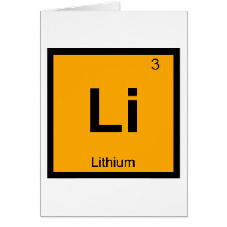 Li - Lithium Chemistry Periodic Table Symbol Card